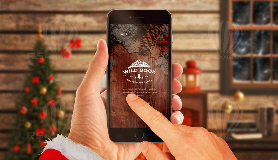 christmas mockup iphone