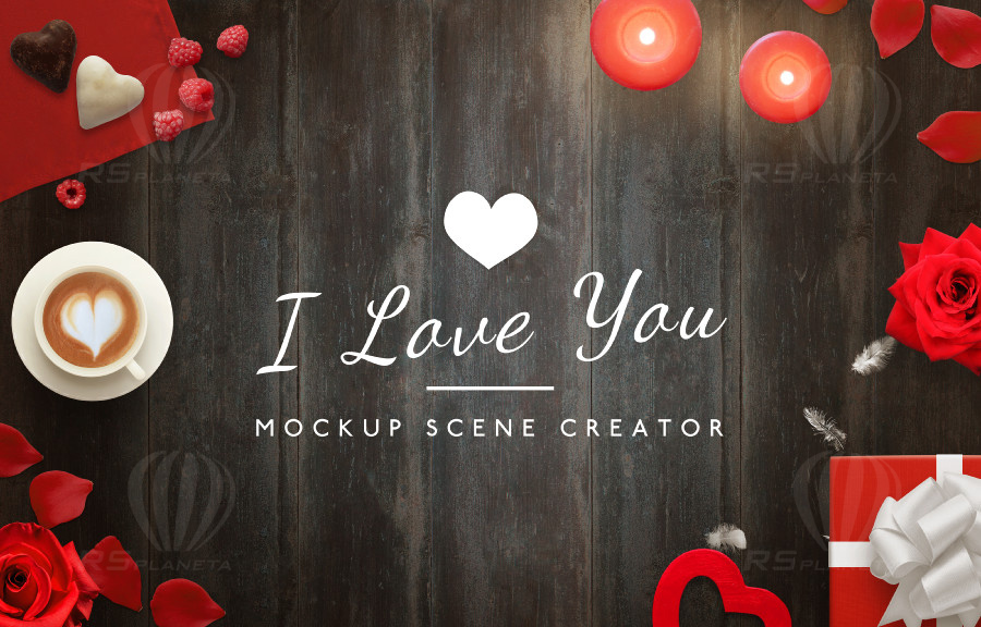 Love Mockup Scene Creator