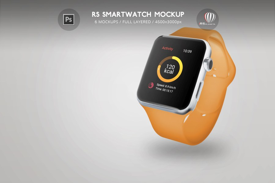 Apple Watch RS Smartwatch Mockup
