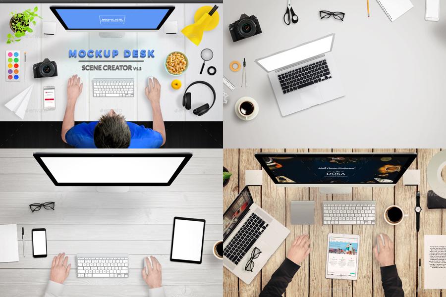 Mockup Desk Scene Creator
