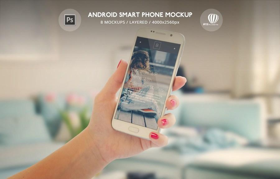 Android phone Samsung Galaxy S7 Edge Mockup