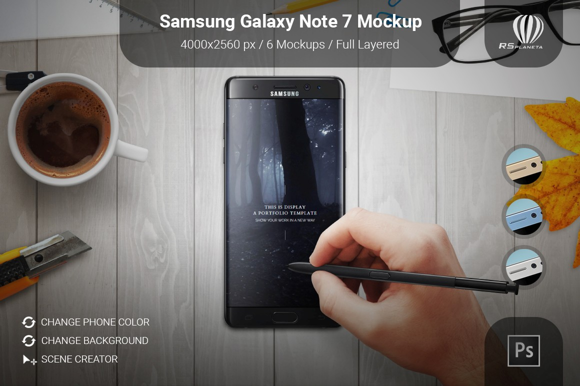 Samsung Galaxy Note 7 Mockup