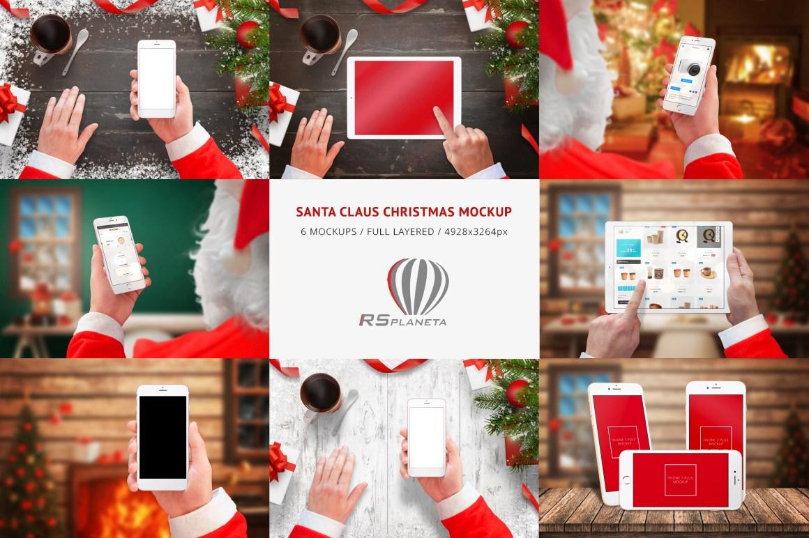Santa Claus Christmas Mockup