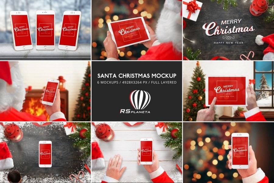 Santa Christmas Mockup