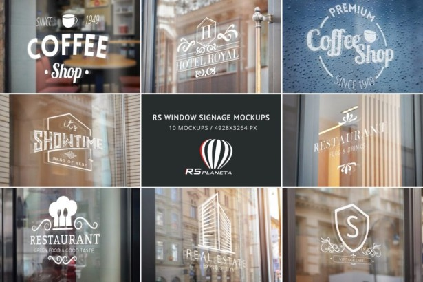 RS Window Signage Mockups